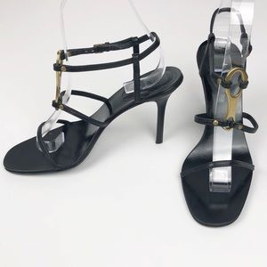 Gucci Black Stiletto Strappy Sandal Size 6.5